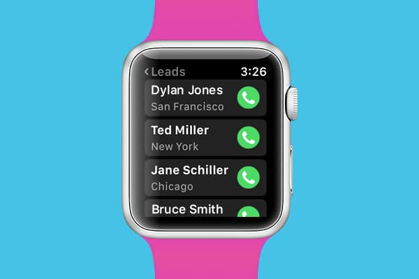Gro CRM Apple Watch Favorite Contacts