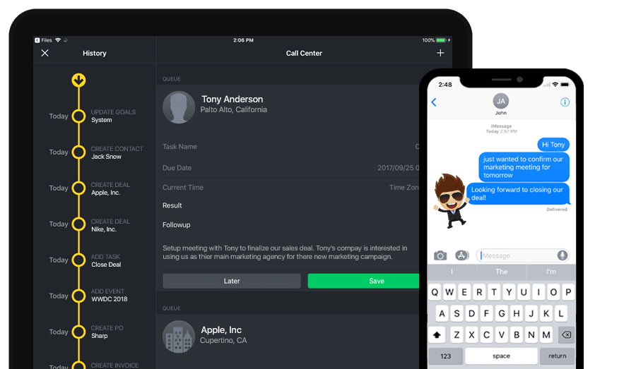Gro CRM for Apple iOS 12 and iPhone X
