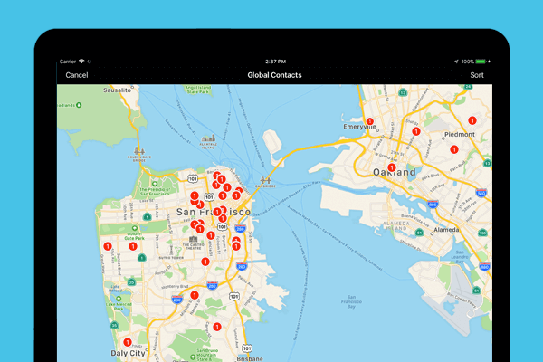 Map your customers with iPad and Gro CRM