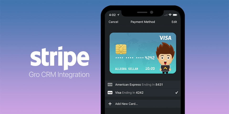 Gro CRM the Popular Mac CRM Small Business Platform for Apple Users, Announces Stripe Payment Integration