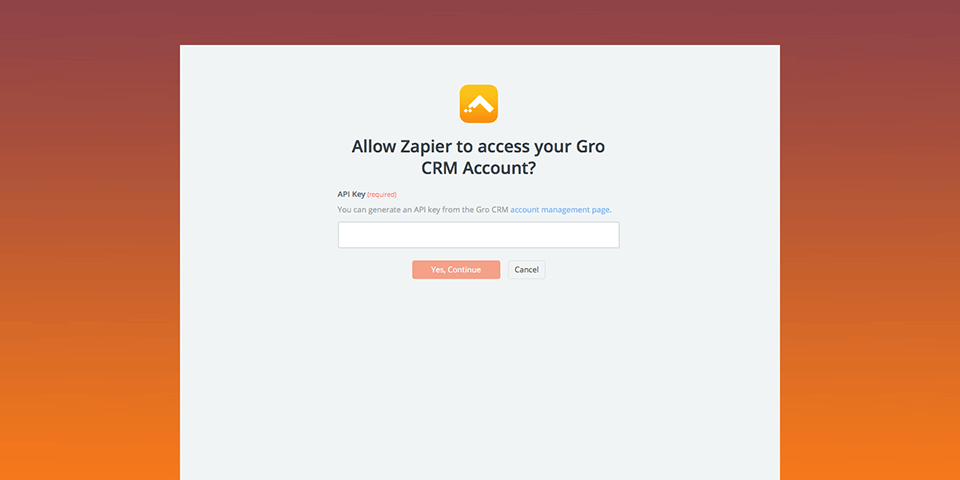 How to Connect Gro CRM and Zapier